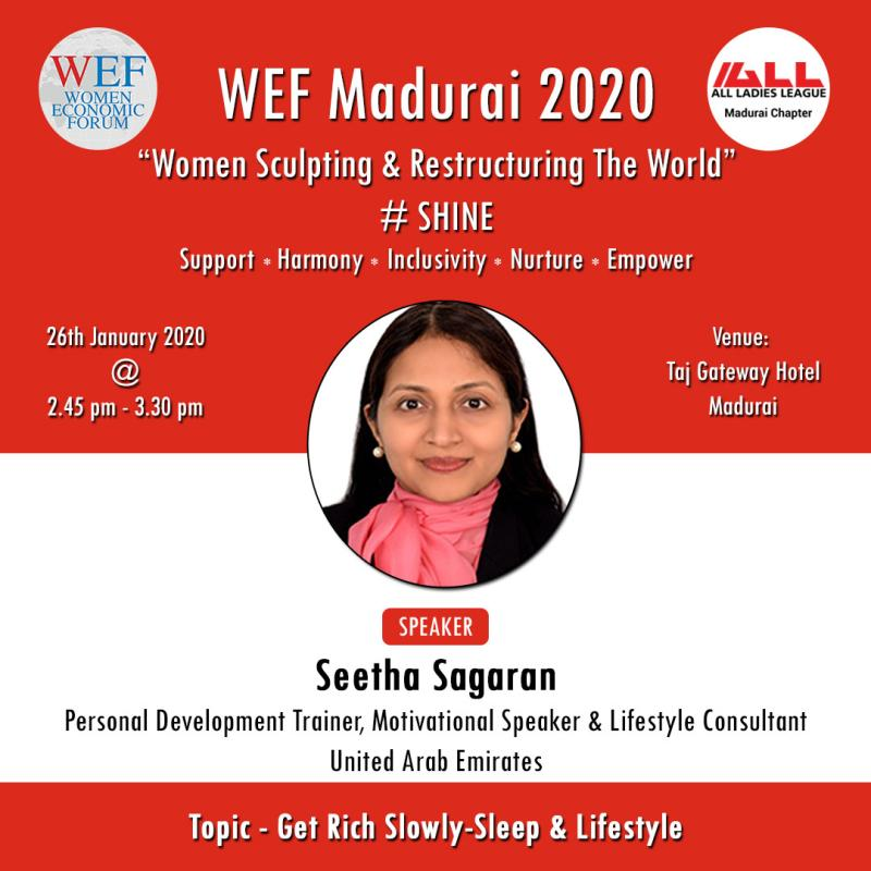 An honour and pleasure to be a part of WEF Madurai 2020.