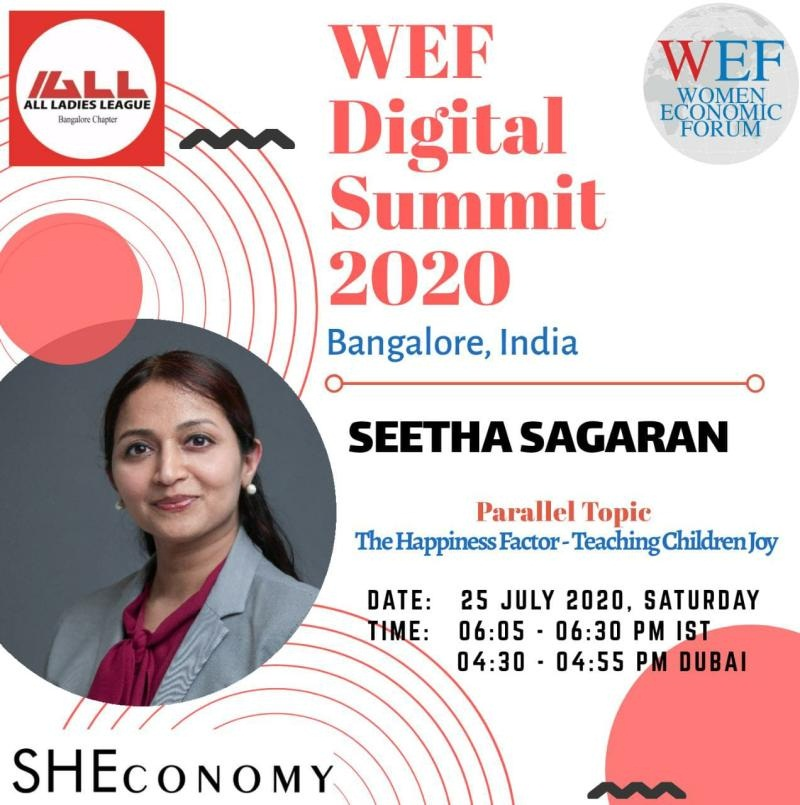 WEF (Women Economic Forum) Digital Summit 2020 (Bangalore, India).