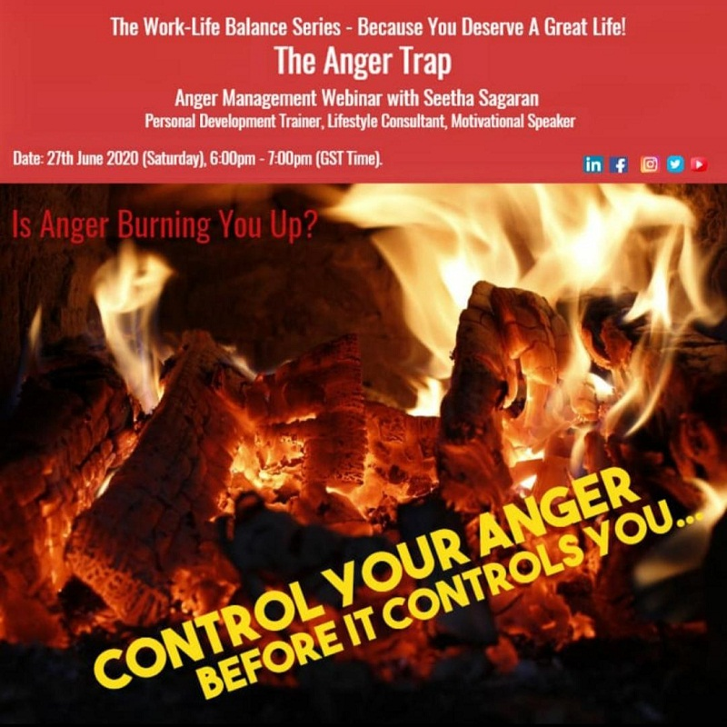 """The Anger Trap"", an anger management workshop, from ""The Work-Life Balance Webinar Series"""