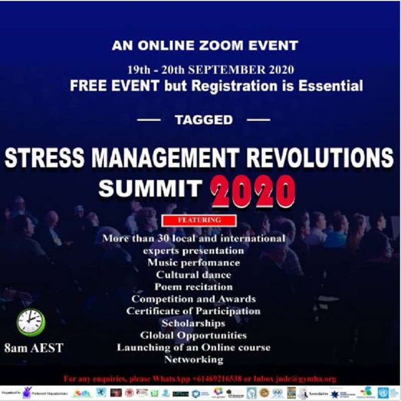 """Stress Management Revolutions Summit 2020"", (September 2020), organised by GYMHA."
