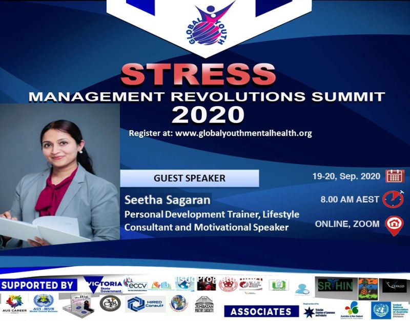 Speaker at the 'Stress Management Revolutions Summit', (19th & 20th September 2020)