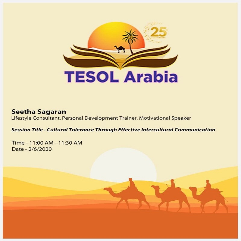 Speaker at TESOL Arabia 2020 Conference (October 2-3, 2020).
