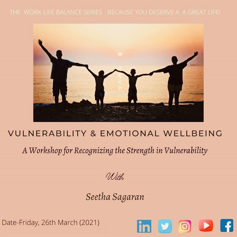 Conducted an interactive motivational webinar, 'Vulnerability and Emotional Wellbeing' (March 2021)