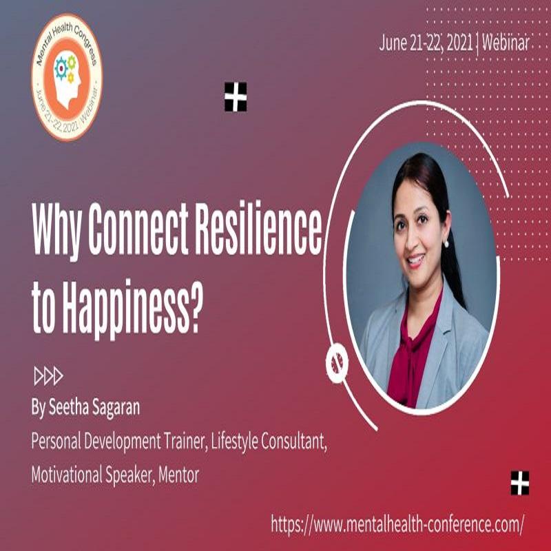speaker at the World Mental Health Congress on June 21-22, 2021.