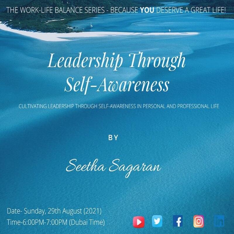 "The motivational webinar, ""Leadership Through Self-Awareness"" (September 2021)"