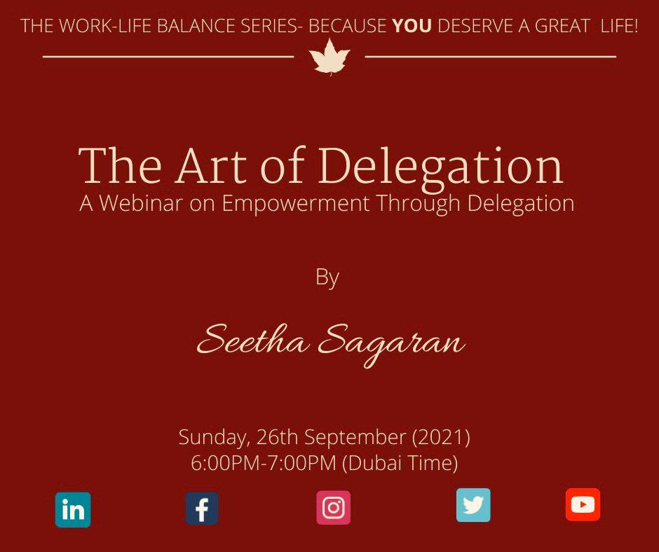 Work life balance series